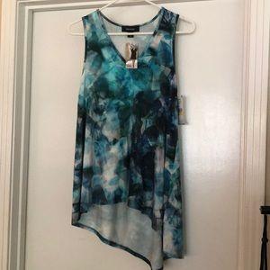 Karen Kane sea glass print sleeveless top